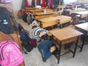 AFAD'dan Öğrencilere Tatbikat