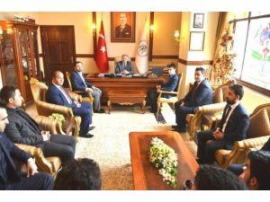 Türkiye Gençlik Vakfı Yönetimi, Vali Kahraman'ı Ziyaret Etti