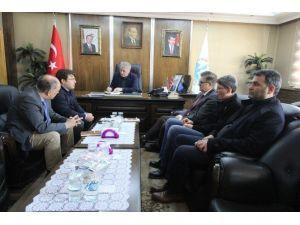 Doğal Taş Fabrikası Proje Ekibinden Başkan Memiş'e Ziyaret