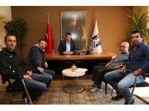 Gümüşlük Gençlikspor Başkanı Nejat İşler'den Başkan Kocadon'a Ziyaret