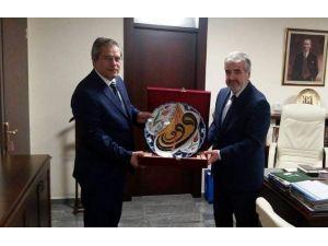 Ali İhsan Ertaş, Diyanet İşleri Başkan Yardımcısı Yılmaz'ı Ziyaret Etti