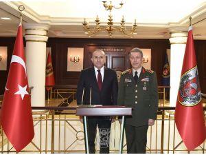 Dışişleri Bakanı Çavuşoğlu, Genelkurmay Başkanı Akar'ı ziyaret etti