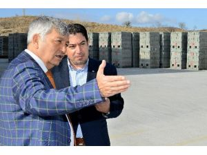 Başkan Günaydın, Belmaş Bimsblok Fabrikası İnceledi