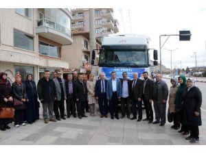 AK Parti Afyonkarahisar İl Başkanlığı Tarafından Türkmenlere Ve Diyarbakır'a Yardım Tır'ı Gönderildi