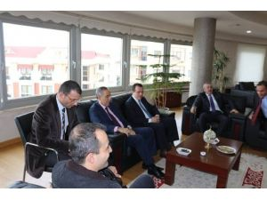Kaymakam Özer, Başkan Yemenici'yi Ziyaret Etti