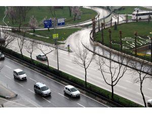 Bursa'da yağmur etkili oluyor