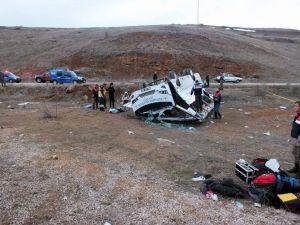 Kayseri'deki Minibüs Kazası