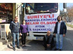 AK Parti Yardım Tırı Kilis'e Ulaştı