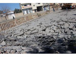 Nusaybin'de patlama nedeniyle köprü kullanılamaz hale geldi