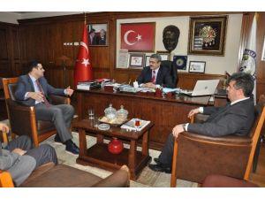 Buharkent Protokolünden Başkan Alıcık'a Ziyaret