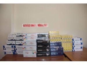 Oltu'da 4 Bin 120 Paket Kaçak Sigara Ele Geçirildi