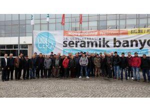 Salihli TSO Üyesi İnşaatçılar Seramik Fuarını Gezdi