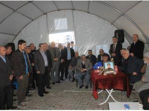 Mardin'de Şehit Polis İçin Taziye Çadırı