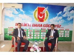 Ksmmo Başkanı Baki Gümüşoluk Gazeteciler Cemiyeti'ni Ziyaret Etti
