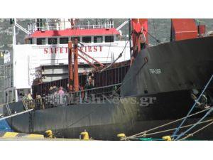 Türkiye'den silah yüküyle çıkan gemi Girit'e çekildi