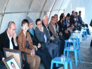 Şehit Polis İçin Emniyet Müdürlüğü Bahçesinde Taziye Çadırı Kuruldu