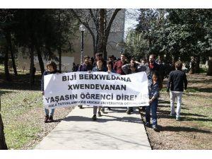 AÜ'de Tutuklanan Öğrenciler İçin Yürüdüler