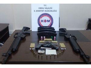 Ordu'da Kaçak Sigara Ve Silah Operasyonu