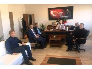 Sorgun TSO'dan Yüksek Okul Müdürü Doç.dr İsmail Akdeniz'e Hayırlı Olsun Ziyareti