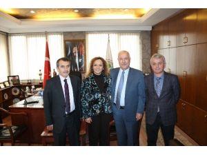 SGK İl Müdürü Çiğdem Acar'dan, Başkan Akdemir'e Ziyaret