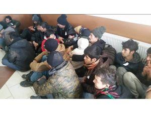 Kuşadası'nda 22 Kaçak Göçmen Ve 1 İnsan Taciri Yakalandı