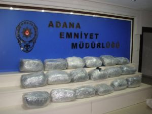 Adana'da esrar operasyonu