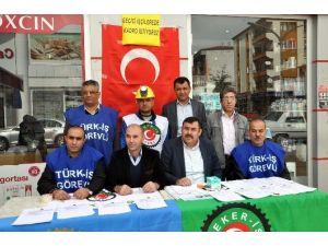Sorgun'da Kiralık İşçi Kanununa Hayır Kampanyası