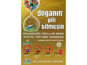 Bitlis'te Atık Pil Toplama Yarışması