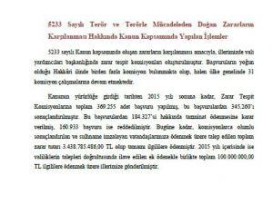 Terör mağdurlarına 11 yılda 3,4 milyar lira maddi destek