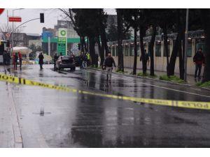 Çevik kuvvet önünde bomba araması