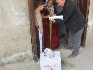 Kızılay'dan 60 Aileye Yardım
