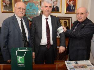Yeşilay Şube Başkanından Aksaray Belediyesine Ziyaret