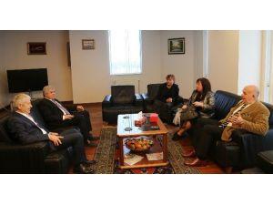 Sofya Üniversitesi Rektörü'nden ETSO'ya Ziyaret