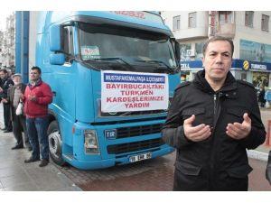 Mustafakemalpaşa'dan Bayırbucak Türkmenlerine 3 Tır Dolusu Yardım