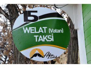Ağrı Belediyesi taksi durakların ismini iki dilli yaptı