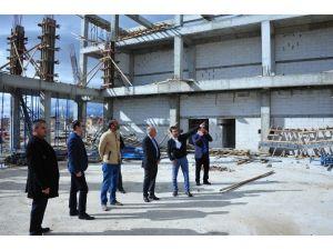 Başkan Çalışkan, Fuar Ve Kongre Merkezi İnşaatını İnceledi
