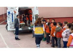 """Erfelek'te Öğrencilere """"112 Acil Servis"""" Tanıtıldı"""
