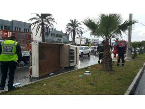 Konacık Mahallesinde Kaza: 3 Yaralı