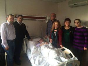 Eskişehir'de MHP'li Heyetten Hasta Ziyareti