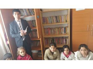Ücretli Öğretmen Kendi İmkanlarıyla, Okul Kütüphanesi Oluşturdu
