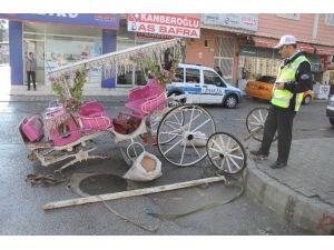 Otomobil Faytona Çarptı: 1 Yaralı