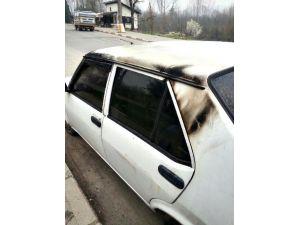 Bartın'da Park Halindeki Otomobil Kundaklandı