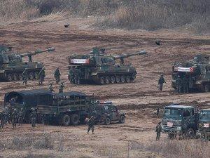 Güney Kore ve ABD'den büyük askeri tatbikat