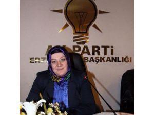 AK Parti Erzurum İl Kadın Kolları Başkanı Hilal Demir'den, Mehmet Sekmen'e Tebrik Mesajı...