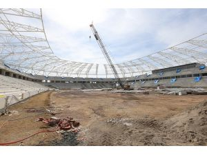 Yeni stadın yüzde 70'i tamamlandı