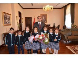 Kardeş TOKİ İlköğretim Okulu Öğrencilerinden Valiliğe Ziyaret