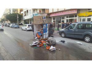 Alev alan 3 tekerlekli motosiklet korkuttu
