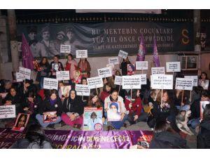 Kadınlardan '8 Mart' nöbeti