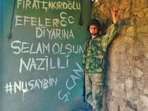 Nazillili Asker Nusaybin'den Fotoğraf Paylaştı