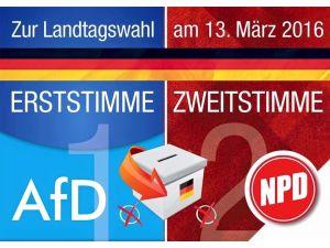 Almanya'da aşırı sağcı parti, göçmen karşıtı parti için oy topluyor